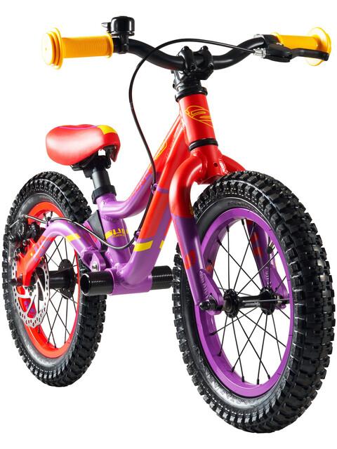 "s'cool pedeX Dirt Lapset potkupyörä 14"" 2. Wahl , punainen/violetti"